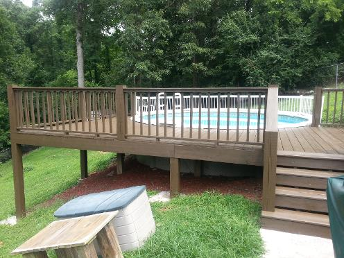 Martin Brothers Painting stained this Hixson Pool Deck