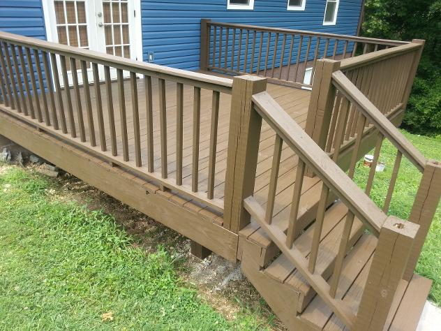 After staining this Hixson Deck