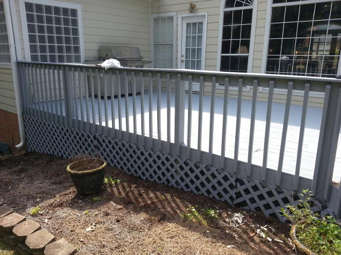 Martin Brothers Painting Stained this deck