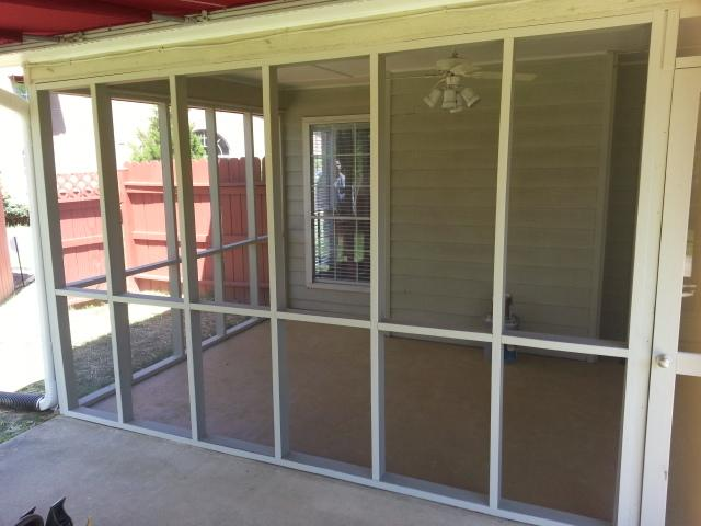 Re-screened patio around Chattanooga by Martin Brothers Painting