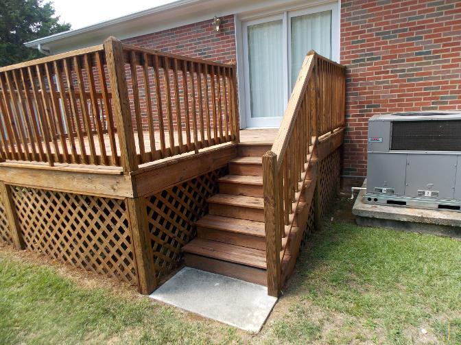 After Staining Red Bank Deck