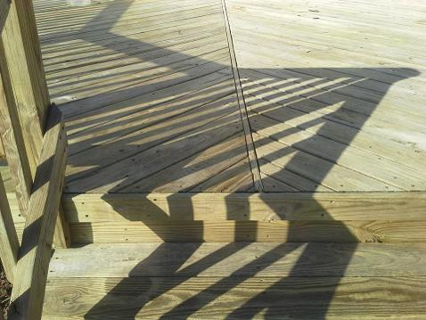 Before cleaning and staining this Hixson Deck