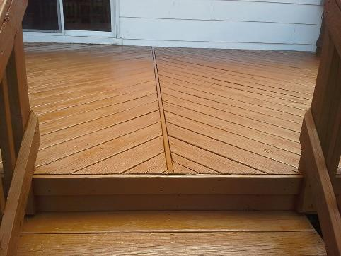 After Cleaning and Staining this Hixson Deck