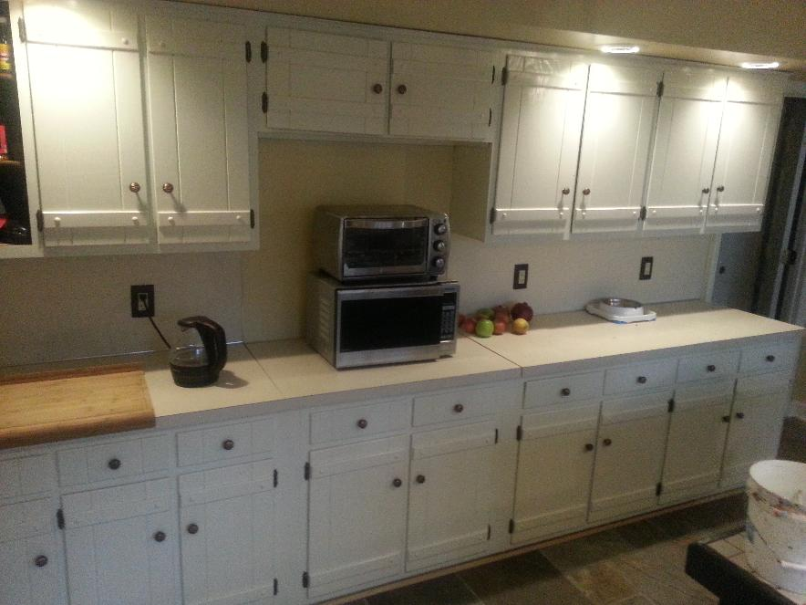 North Chattanooga Kitchen After painting cabinets