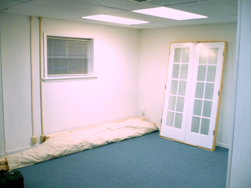 Chattanooga office before walls were added